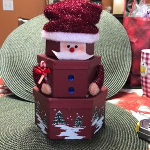 Other - Santa Clause/SnowmanThree tiered Christmas Boxes